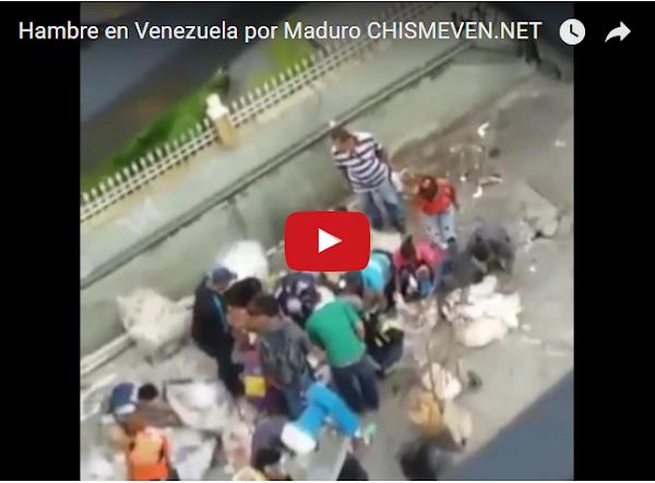 Ciudadanos buscando alimento en un basurero de Caracas