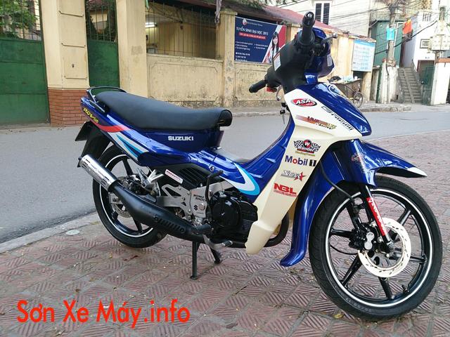 Sơn xe Xipo màu xanh Gp cực đẹp