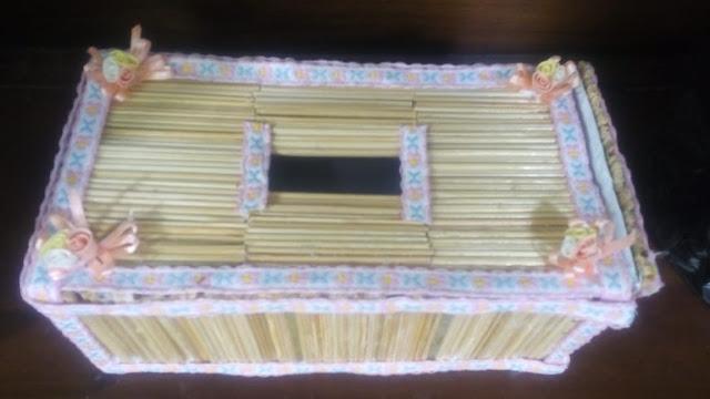 Kotak Tissu Bahan Tusuk Sate [Kode : KT04]