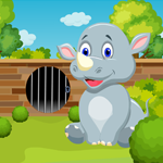 Games4King Cute Rhinoceros Rescue Walkthrough