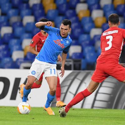 ملخص وهدف فوز الكمار علي نابولي (1-0) الدوري الاوروبي