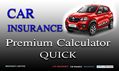 Car Insurance Premium Calculator: 13 Quick Steps,image with a red car and car insurance premium calculator quick written,