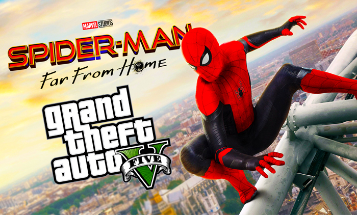 GTA 5 Mod! New Spider-Man Far From Home