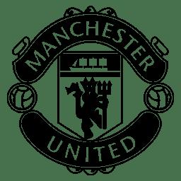 Logo DLS Manchester United Hitam Putih