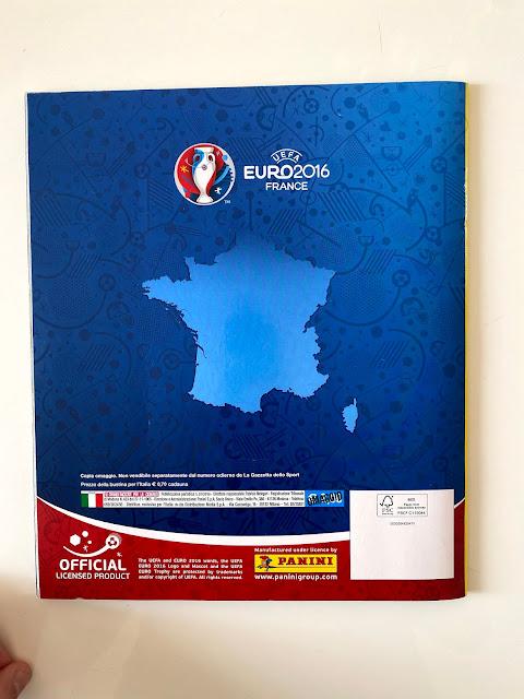 Quarta di Copertina Album Panini Euro 2016