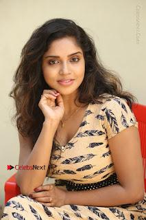 Telugu Actress Karunya Chowdary Stills in Short Dress at ATM Not Working Press Meet  0227.jpg