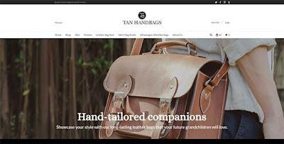 web keren dengan html Tan Handbags