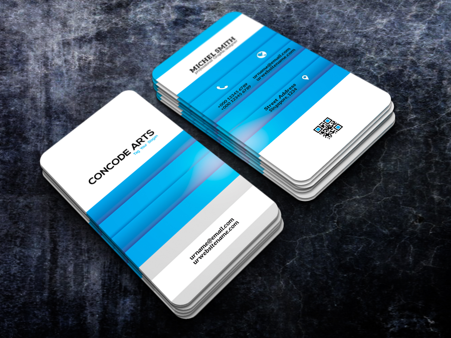 Free download creative blue color business cards vol 93 free download professional business cards this is a business card this template download contains 300 dpi print ready cmyk layerd psd files fbccfo Gallery