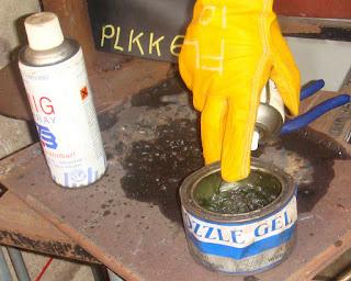 applying gel