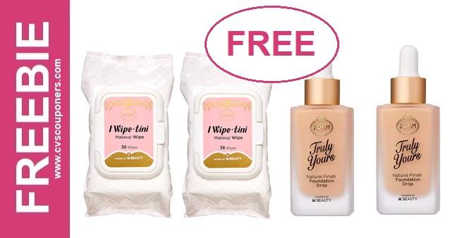 FREE JOAH Foundation or Makeup Remover at CVS 12-15-12-21