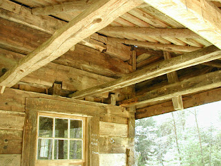Another look at the construction detail of the Carter-Shields Cabin.