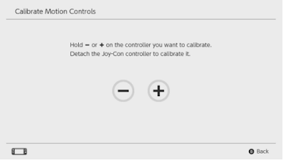 Calibrate Motion Controls Nintendo Switch Not Working