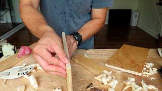 Tapar el canto de la madera con viruta