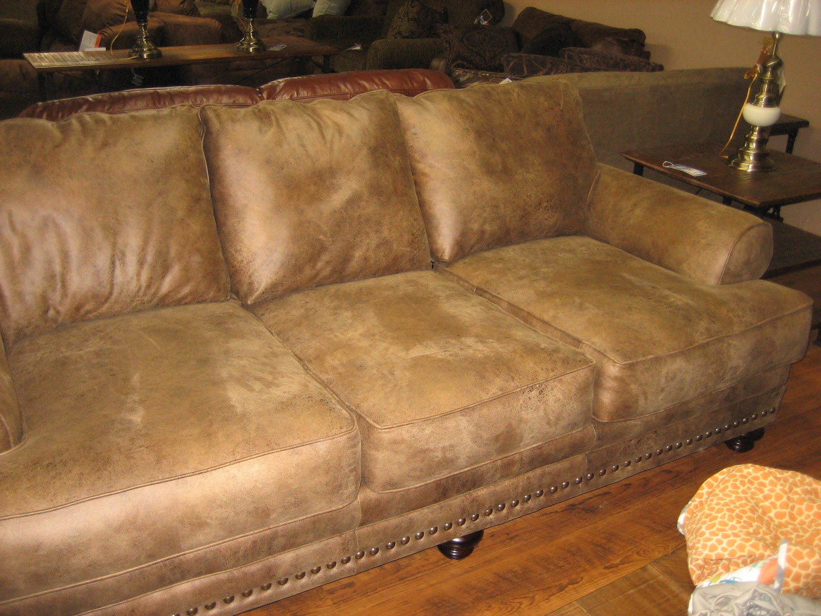 Little Trailer Big People Ow Now Brown Couch