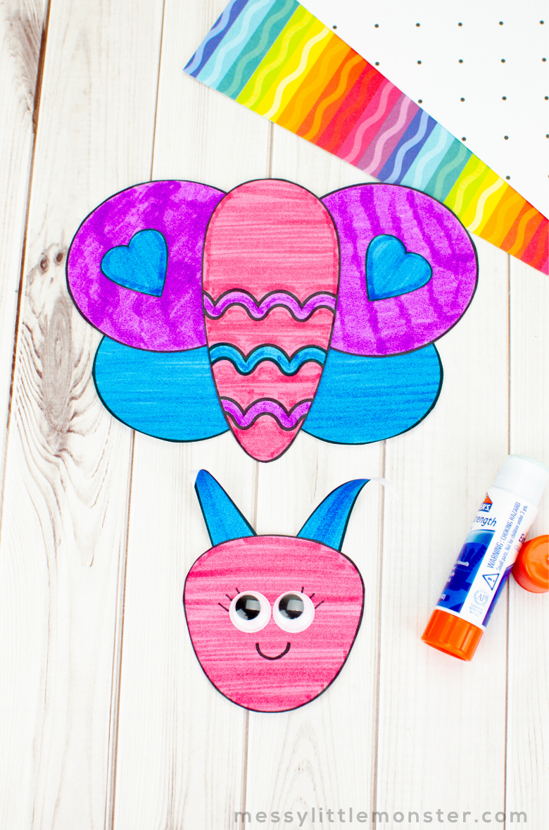 butterfly craft insect template