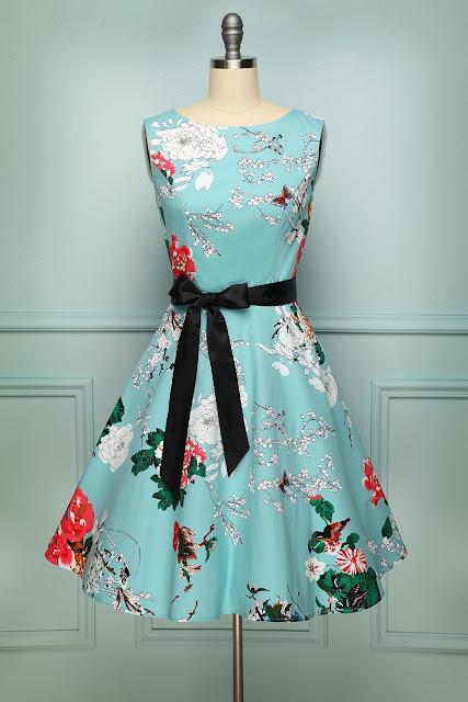 Light Blue 1950s Dress