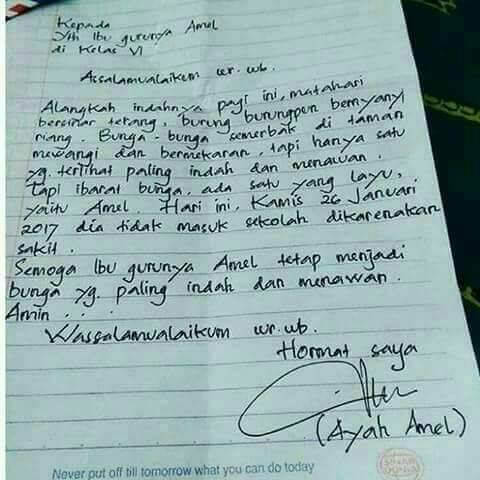 Contoh Surat Izin Sakit Tulisan Tangan (via: enjineer.com)