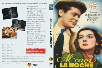 Carátula dvd: Al caer la noche (1937) (Night Must Fall)