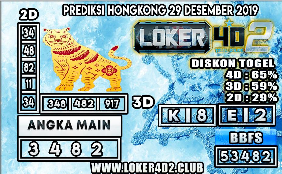 PREDIKSI TOGEL HONGKONG LOKER4D2 29 DESEMBER 2019