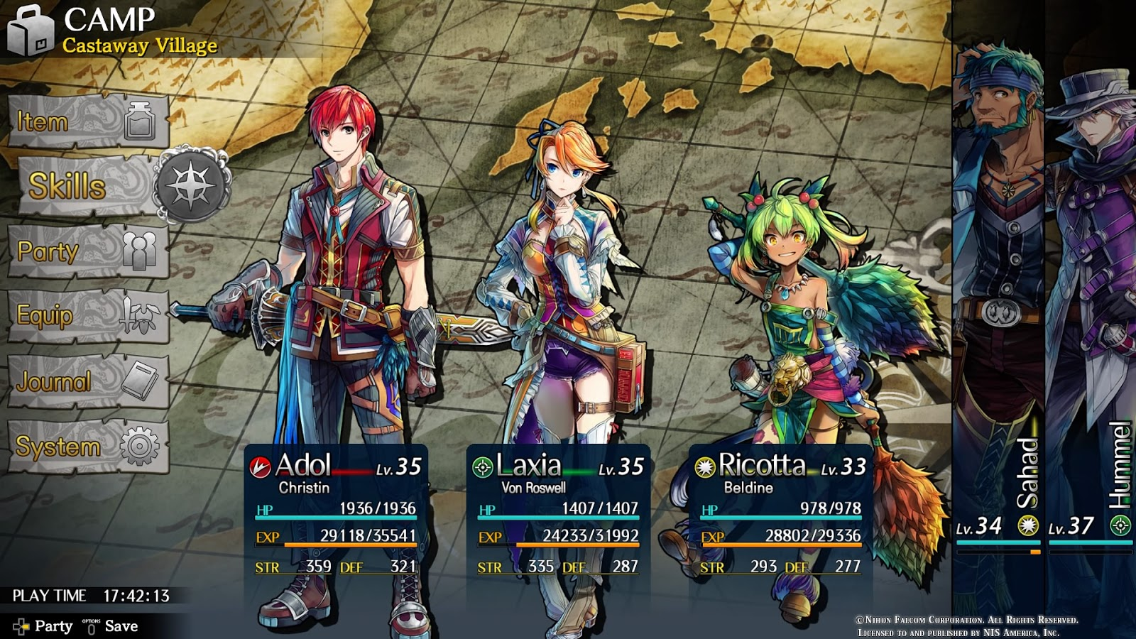 Ys Viii Lacrimosa Of Dana Ps4 Review Chalgyr S Game Room