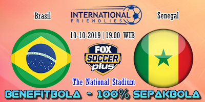 Prediksi Brasil vs Senegal – 10 Oktober 2019