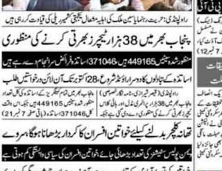 Educators 38000 Jobs Announced All Over Punjab