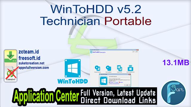 WinToHDD v5.2 Technician Portable _ZcTeam.id
