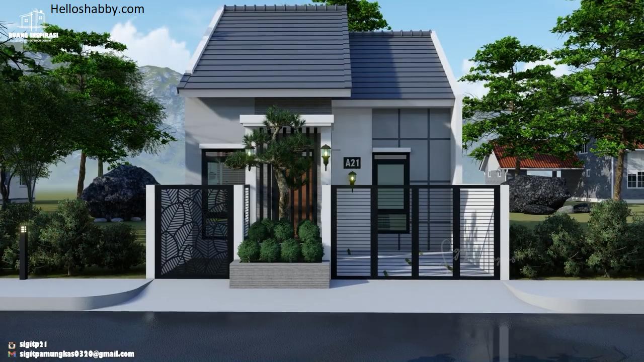 Desain Rumah Ukuran 6 X 11 M 1 Lantai Model Minimalis Dengan Batu Alam Helloshabby Com Interior And Exterior Solutions