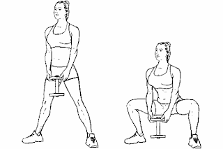 4. Dumbbell Frog Squat