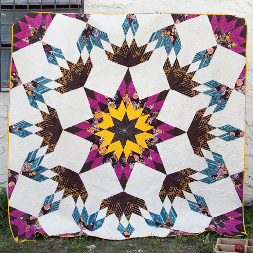 Autumn Vibes Stardust Quilt Free Pattern designed by Maureen Cracknell for Live art gallery fabrics