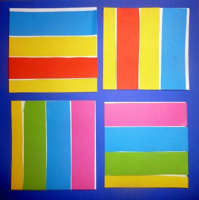 Sol Lewitt Color bands in two directions en petite section
