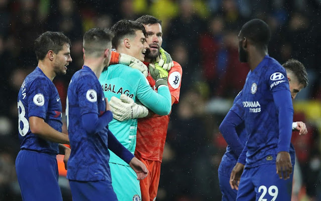 Kepa and Ben Foster show each other respect