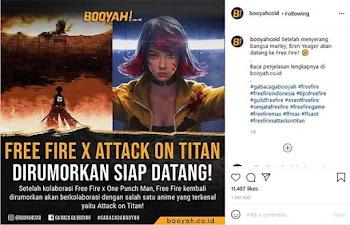 Benarkah Free Fire berkolaborasi dengan Attack on Titan?