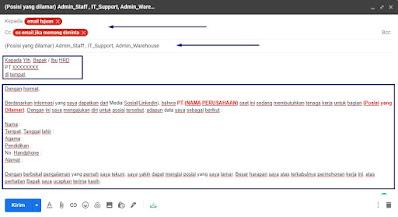 format penulisan email untuk melamar kerja