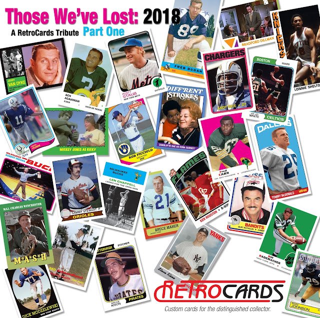 Topps football, baseball, hockey, basketball, RetroCards, custom cards that never were