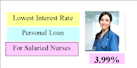 Lowest Interest rate Personal loan for Nurses