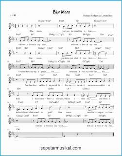 chord blue moon lagu jazz standar