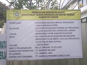 Pekerjaan Seumur Jagung di Area Sekretariat DPRD Diduga Asal-asalan