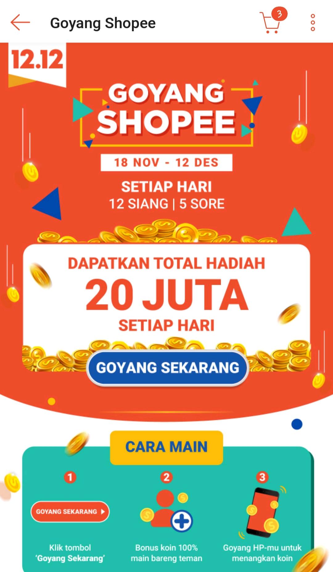 Shopee Games Terbaru Goyang Shopee