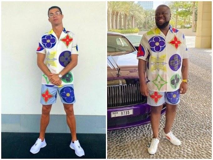 Ronaldo Or Hushpuppi, Who Rocks This Luis Vuitton Dress Better? (PHOTO)
