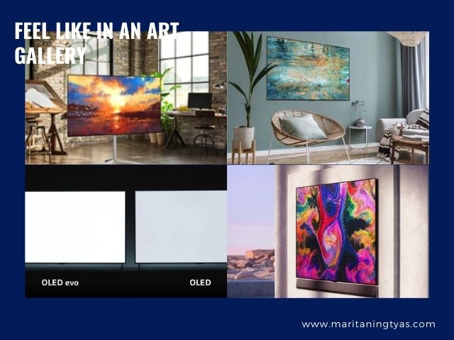LG OLED TV with gallery design