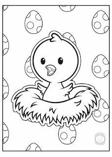 animales bebé pollito para colorear