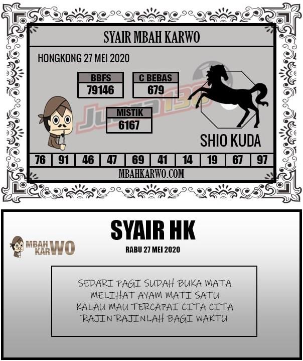 Prediksi Togel Hongkong Rabu 27 Mei 2020 - Syair Mbah Karwo