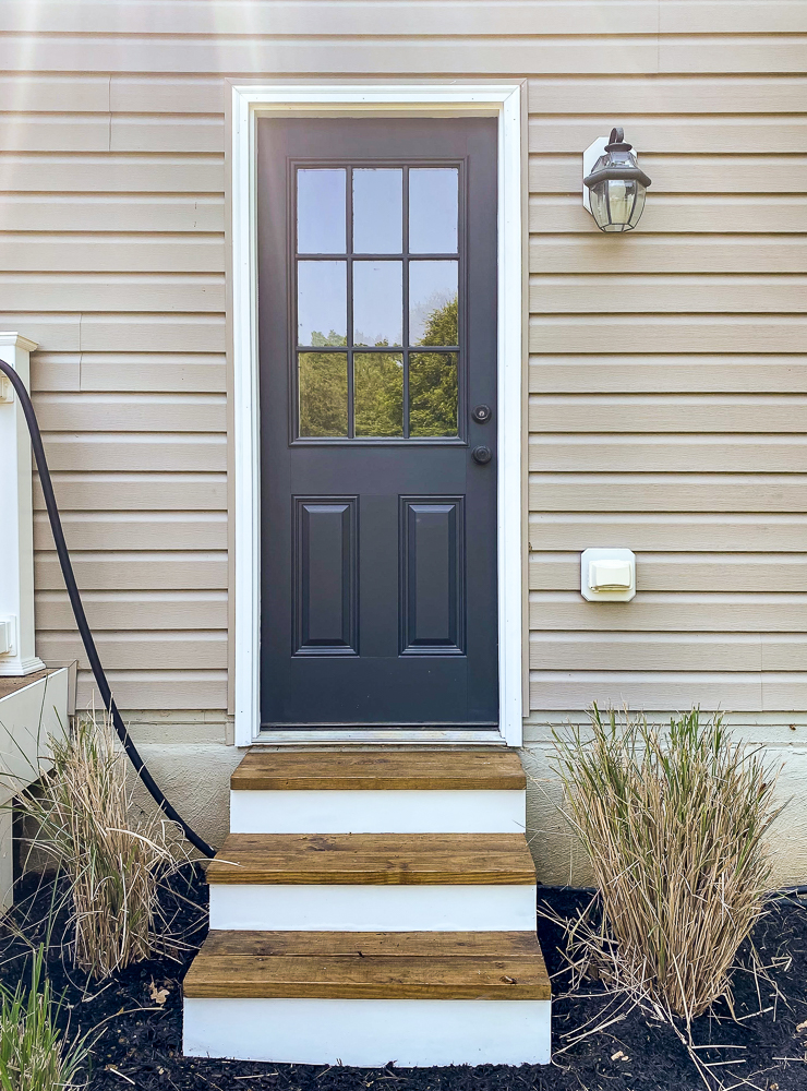 Painted outdoor door and stairs