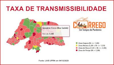 Taxa de transmissibilidade em Boa Saúde chaga a 5
