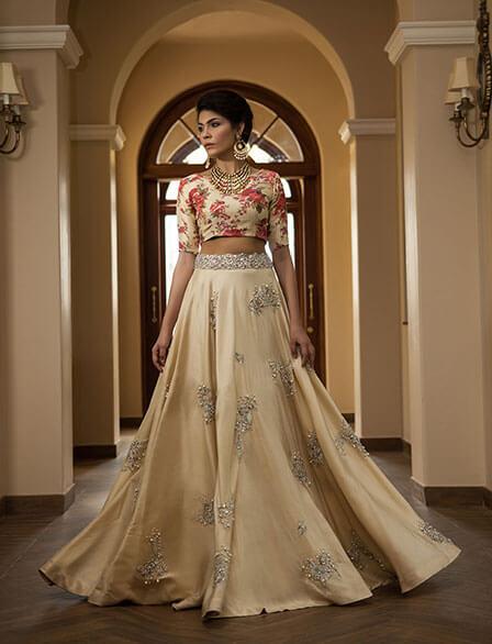 Elegant Zara Shahjahan Wedding Lehenga Choli