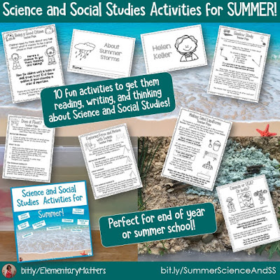 https://www.teacherspayteachers.com/Product/Science-and-Social-Studies-Activities-for-Summer-3798698?utm_source=blog%20post&utm_campaign=Summer%20S%20and%20SS