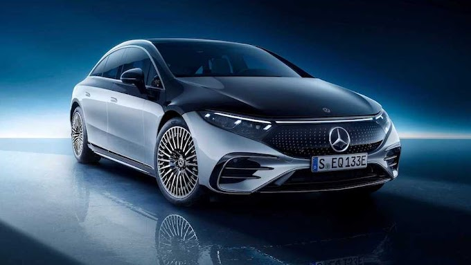 2022 Mercedes EQS, which has the largest car screen in the world, officially appeared