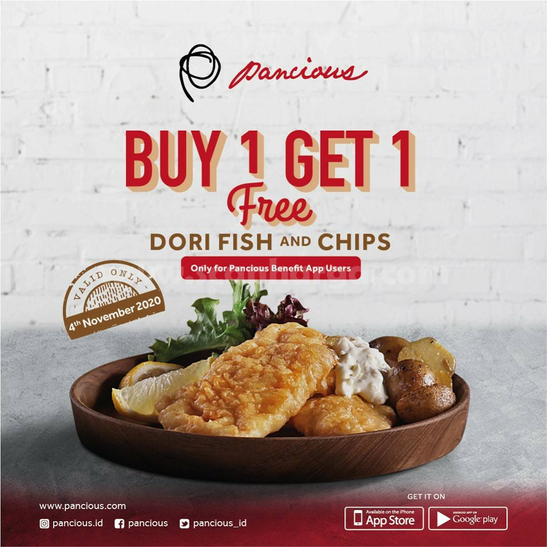Promo Pancious Pondok Indah Mall Buy 1 Get 1 Fee [Dori Fish & Chips]
