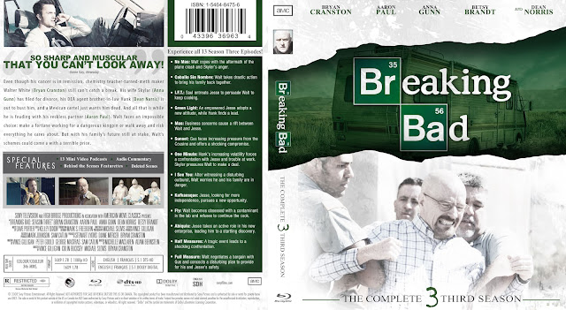 Capa Bluray Breaking Bad Terceira Temporada Completa
